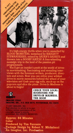 Drive-In Madness! - back cover